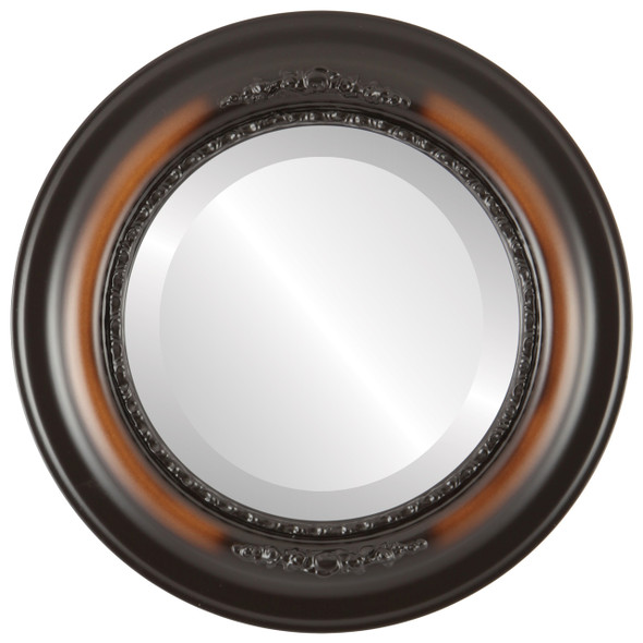 Beveled Mirror - Boston Round Frame - Walnut