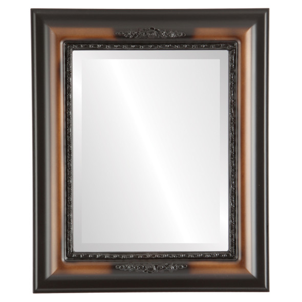 Beveled Mirror - Boston Rectangle Frame - Walnut