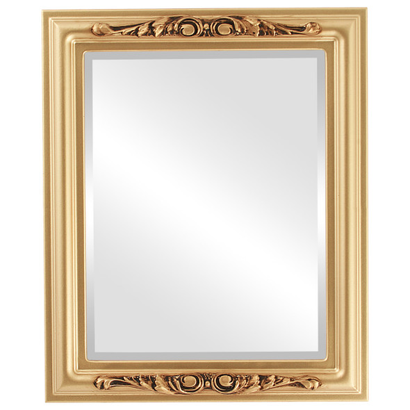 Beveled Mirror - Florence Rectangle Frame - Desert Gold