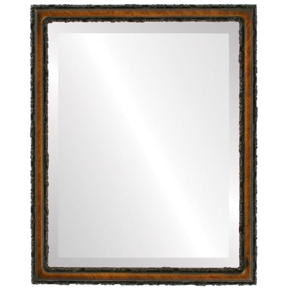 Beveled Mirror - Virginia Rectangle Frame - Vintage Walnut