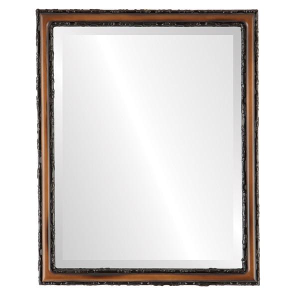 Beveled Mirror - Virginia Rectangle Frame - Walnut