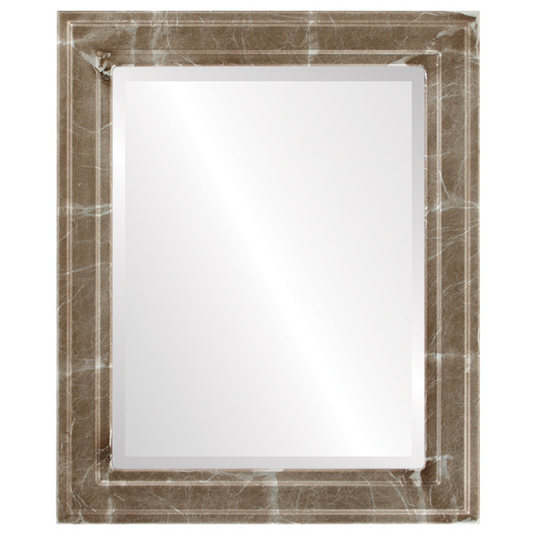 Beveled Mirror - Wright Rectangle Frame - Champagne Silver