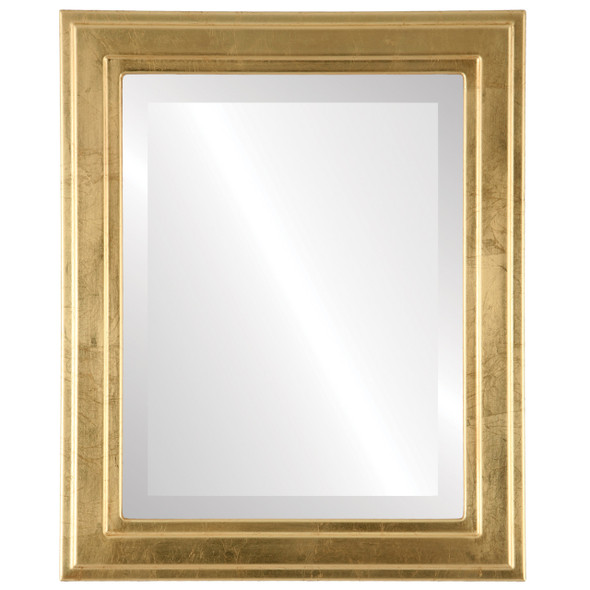Beveled Mirror - Wright Rectangle Frame - Gold Leaf
