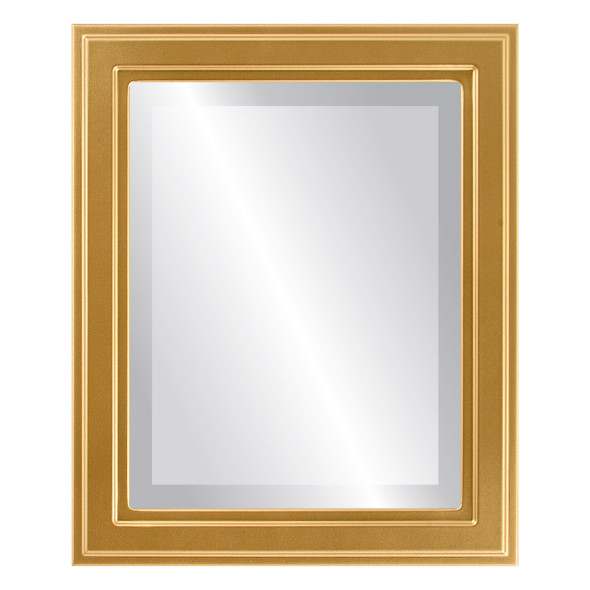 Beveled Mirror - Wright Rectangle Frame - Gold Spray