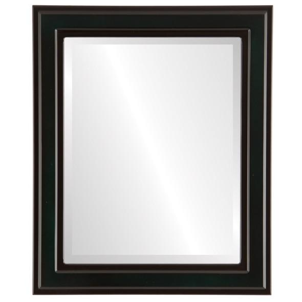Beveled Mirror - Wright Rectangle Frame - Hunter Green
