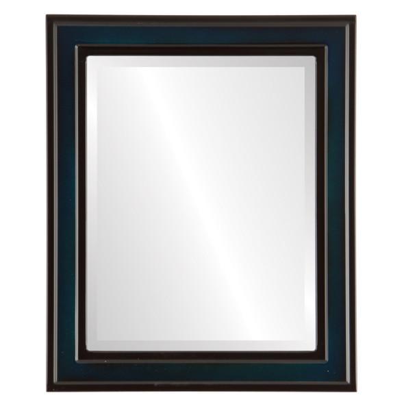 Beveled Mirror - Wright Rectangle Frame - Royal Blue