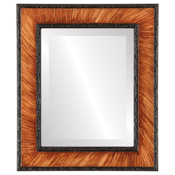 Beveled Mirror - Paris Rectangle Frame - Vintage Walnut