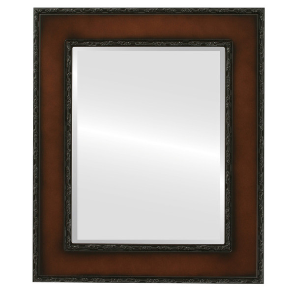 Beveled Mirror - Paris Rectangle Frame - Walnut