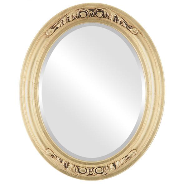 Beveled Mirror - Florence Oval Frame - Gold Leaf