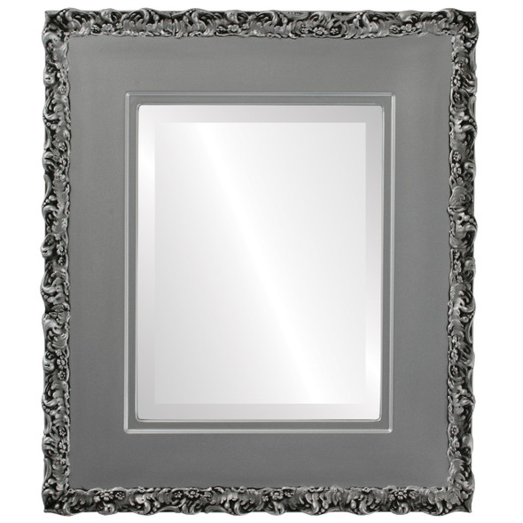 Beveled Mirror - Williamsburg Rectangle Frame - Silver Spray