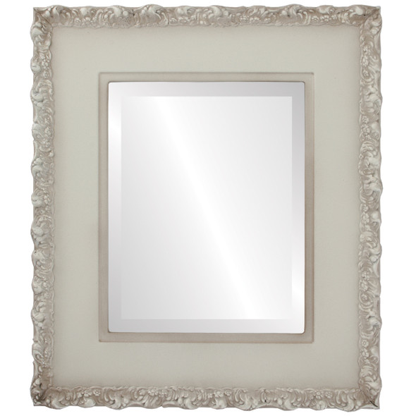 Beveled Mirror - Williamsburg Rectangle Frame - Taupe