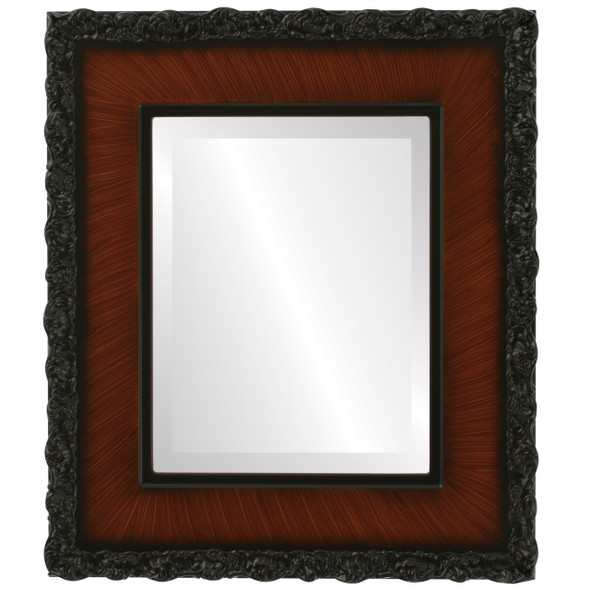 Beveled Mirror - Williamsburg Rectangle Frame - Vintage Walnut