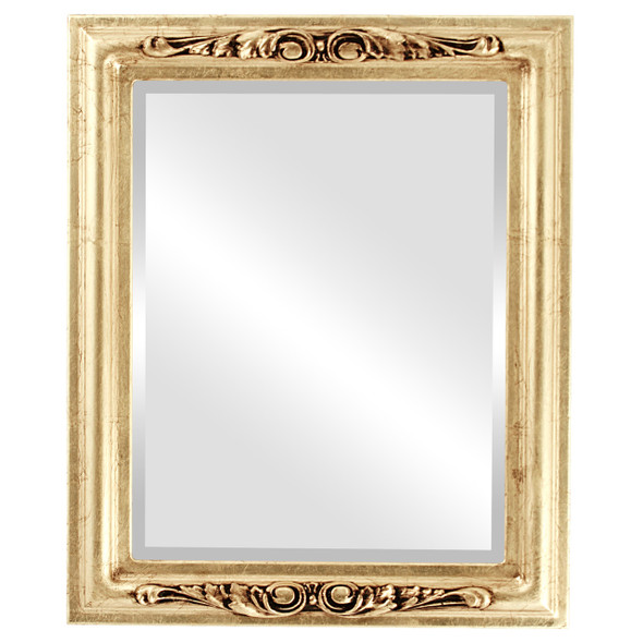 Beveled Mirror - Florence Rectangle Frame - Gold Leaf