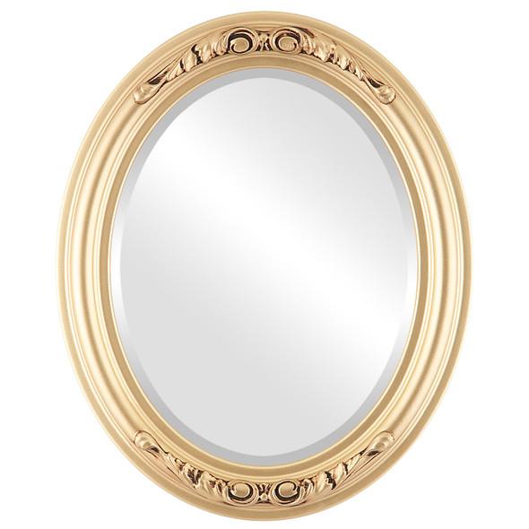 Beveled Mirror - Florence Oval Frame - Gold Spray