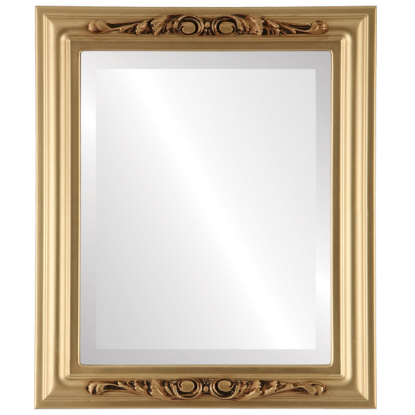 Beveled Mirror - Florence Rectangle Frame - Gold Spray