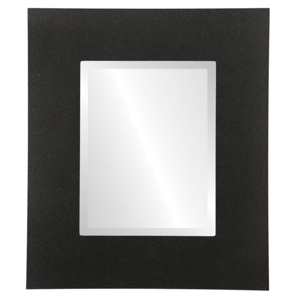 Beveled Mirror - Tribeca Rectangle Frame - Black Silver