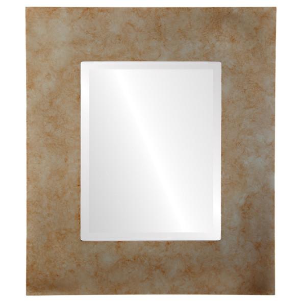 Beveled Mirror - Tribeca Rectangle Frame - Burnished Silver
