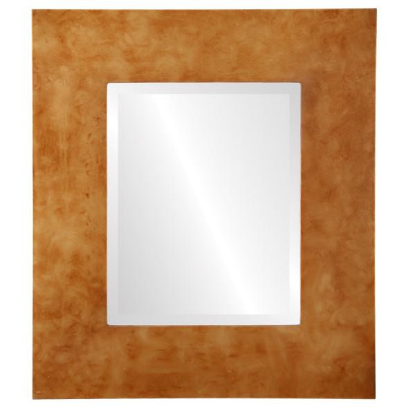 Beveled Mirror - Tribeca Rectangle Frame - Burnished Gold