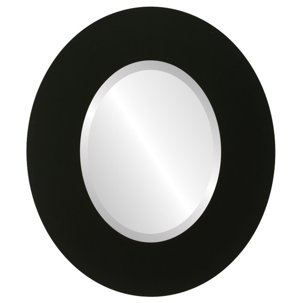 Beveled Mirror - Tribeca Oval Frame - Matte Black