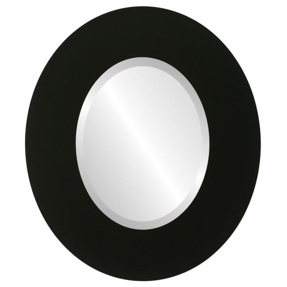 Beveled Mirror - Tribeca Oval Frame - Matte Black