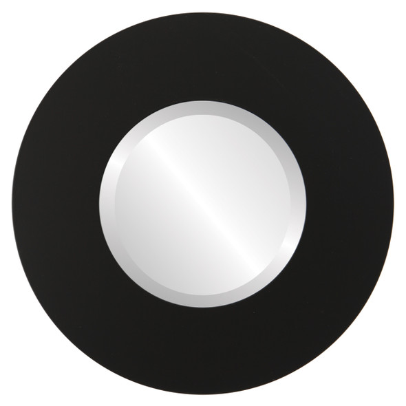 Beveled Mirror - Tribeca Round Frame - Matte Black
