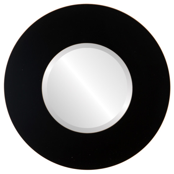 Beveled Mirror - Tribeca Round Frame - Rubbed Black