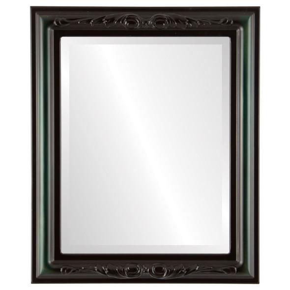 Beveled Mirror - Florence Rectangle Frame - Hunter Green