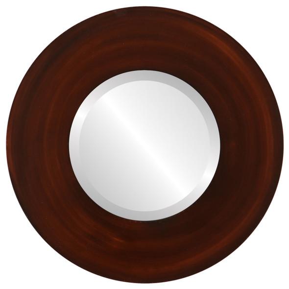 Beveled Mirror - Tribeca Round Frame - Mocha