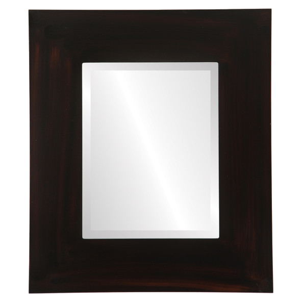 Beveled Mirror - Tribeca Rectangle Frame - Mocha