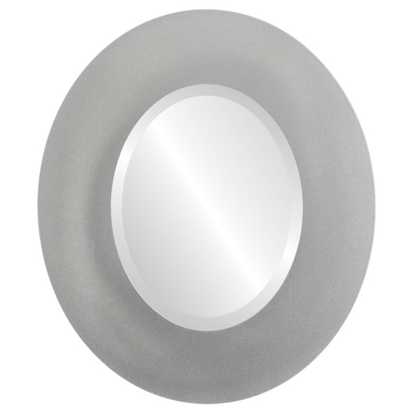 Beveled Mirror - Tribeca Oval Frame - Bright Silver