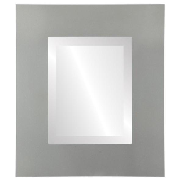 Beveled Mirror - Tribeca Rectangle Frame - Bright Silver