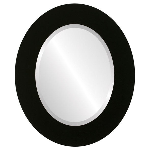 Beveled Mirror - Ashland Oval Frame - Matte Black