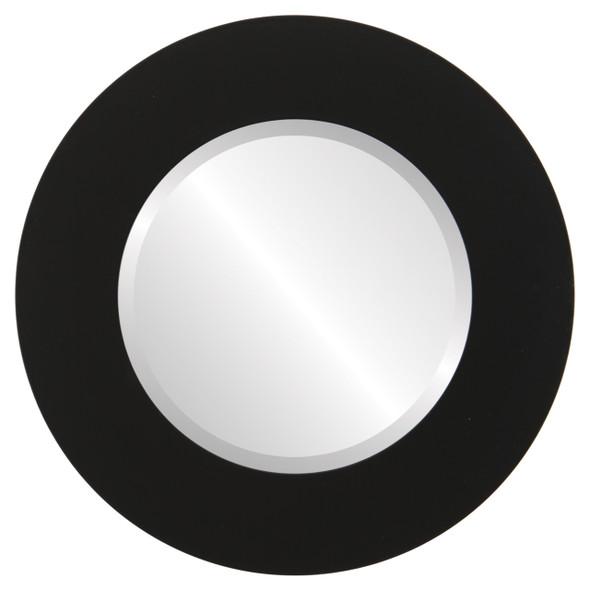 Beveled Mirror - Ashland Round Frame - Matte Black