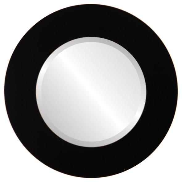 Beveled Mirror - Ashland Round Frame - Rubbed Black