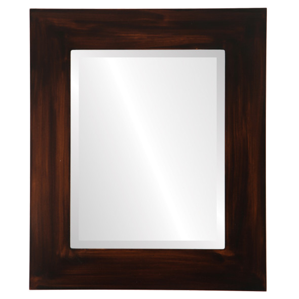 Beveled Mirror - Ashland Rectangle Frame - Mocha