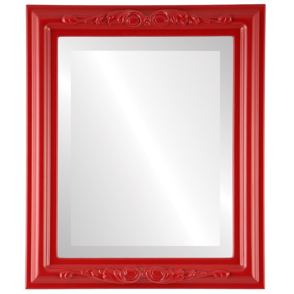 Beveled Mirror - Florence Rectangle Frame - Holiday Red