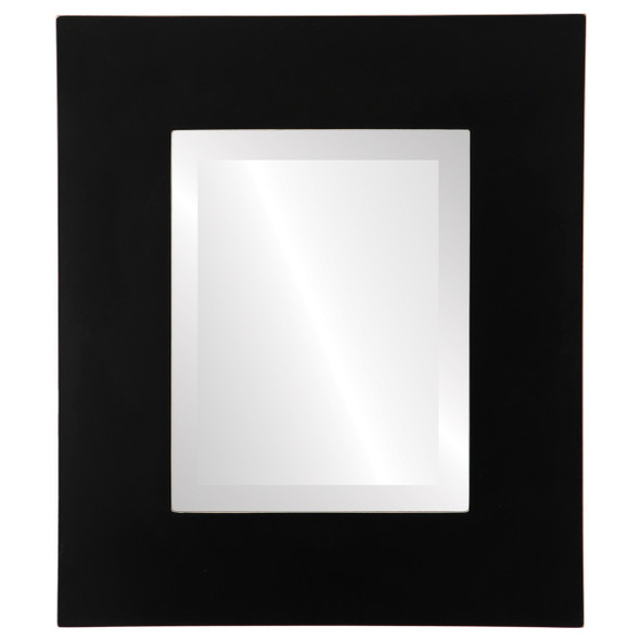 Beveled Mirror - Ashland Rectangle Frame - Rubbed Black