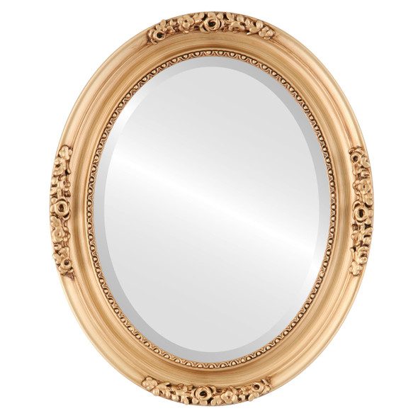 Beveled Mirror - Versailles Oval Frame - Gold Paint