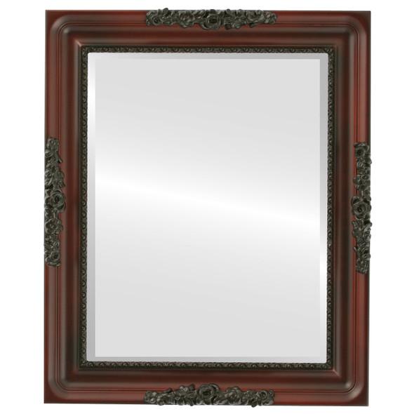 Beveled Mirror - Versailles Rectangle Frame - Rosewood