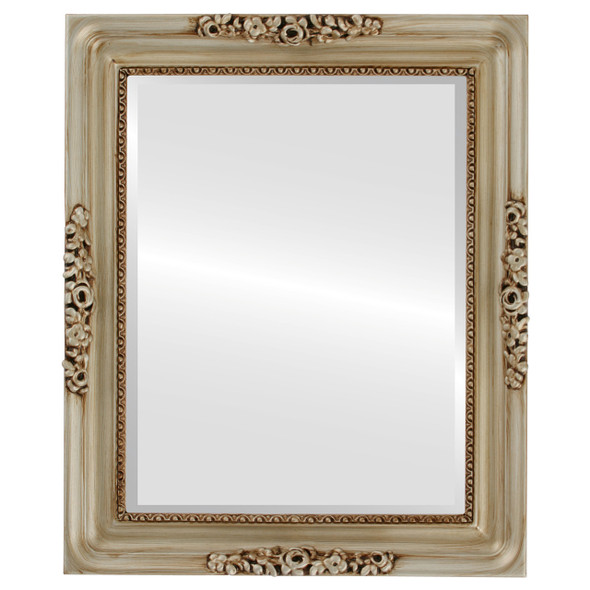 Beveled Mirror - Versailles Rectangle Frame - Silver