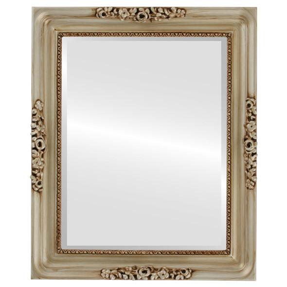 Beveled Mirror - Versailles Rectangle Frame - Silver