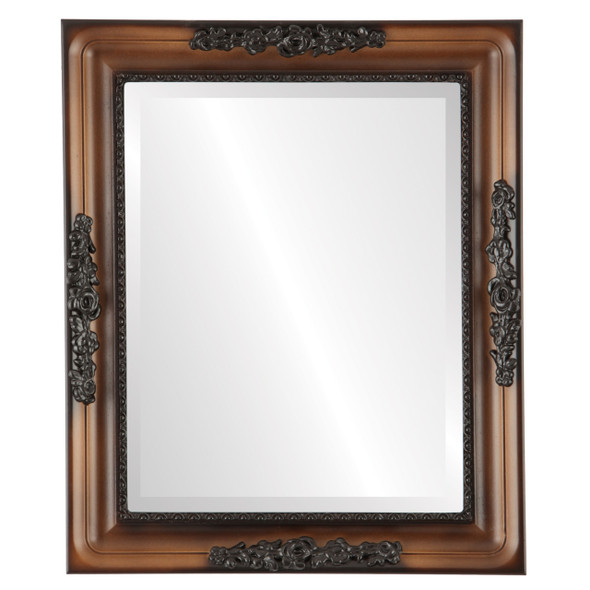 Beveled Mirror - Versailles Rectangle Frame - Walnut