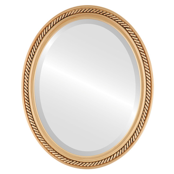 Beveled Mirror - Santa Fe Oval Frame - Gold Paint