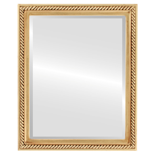 Beveled Mirror - Santa Fe Rectangle Frame - Antique Gold Leaf