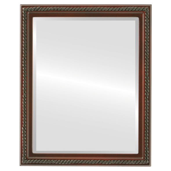 Beveled Mirror - Santa Fe Rectangle Frame - Rosewood