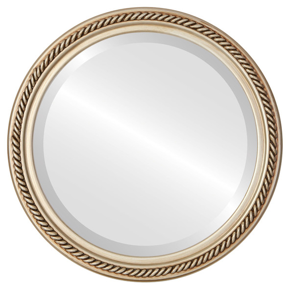 Beveled Mirror - Santa Fe Round Frame - Silver
