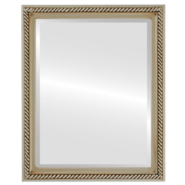 Beveled Mirror - Santa Fe Rectangle Frame - Silver