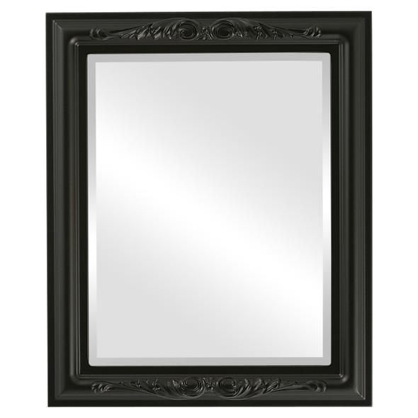 Beveled Mirror - Florence Rectangle Frame - Matte Black