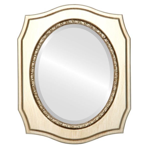 Beveled Mirror - San Francisco Oval Frame - Silver