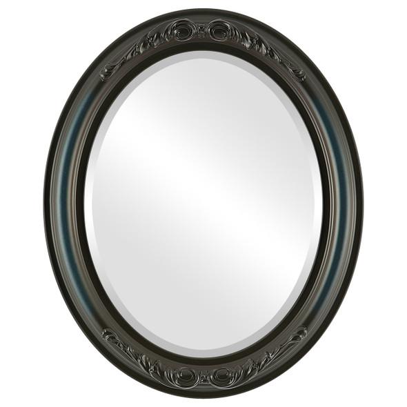Beveled Mirror - Florence Oval Frame - Royal Blue